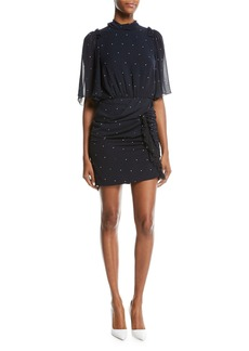 Camilla and Marc Scarlett Draped Dot Mini Cocktail Dress