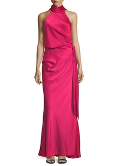CAMILLA AND MARC Sirocco Draped-Front Self-Tie Long Evening Gown