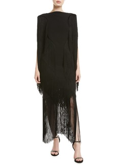 Camilla and Marc Cybill High-Neck Fringe Dress
