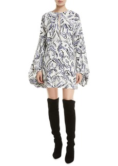 Camilla and Marc Fonda Long-Sleeve Printed Mini Dress