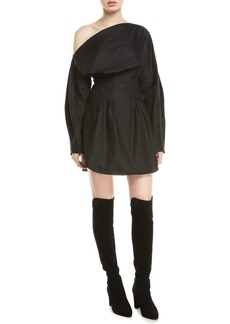 Camilla and Marc Steinem One-Shoulder Long-Sleeve Mini Dress