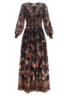 Camilla A Girl Like You-print silk maxi dress