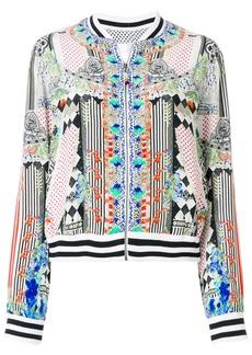 Camilla abstract print bomber jacket