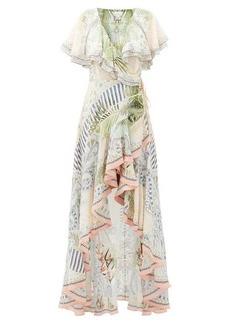 Camilla Beach Shack ruffled silk wrap dress