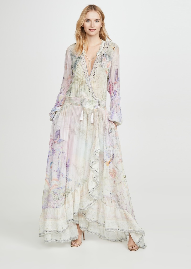 Camilla Blouson Sleeve Wrap Dress