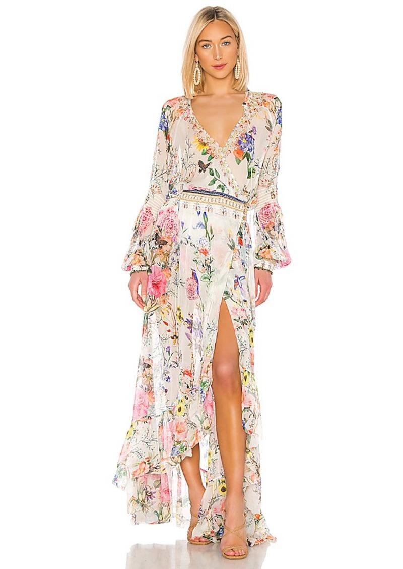 Camilla Camilla Blouson Sleeve Wrap Dress Dresses