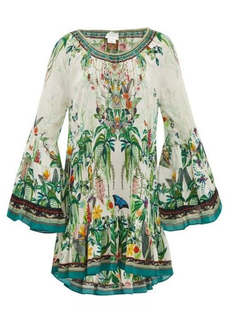 Camilla Daintree Darling rainforest-print mini dress