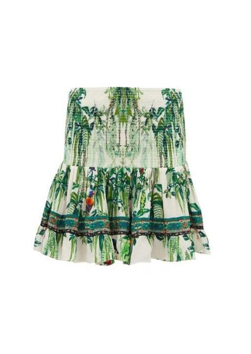 Camilla Daintree Darling rainforest-print mini skirt