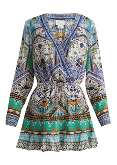Camilla Everlasting Udaipur-print silk dress
