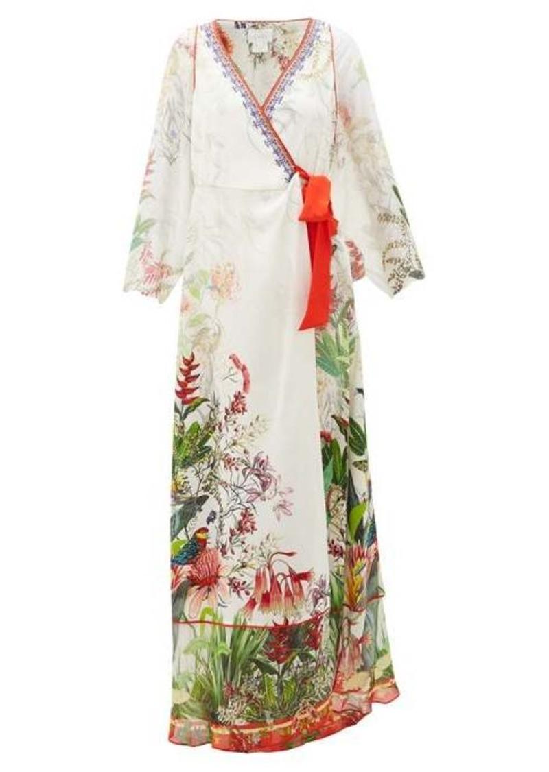 Camilla Faraway Tree silk wrap dress