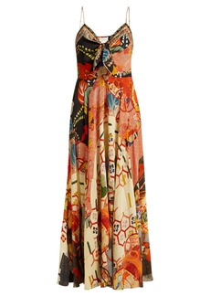 Camilla Floral-print silk crepe de Chine dress