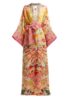 Camilla Kimono Kisses-print silk maxi dress