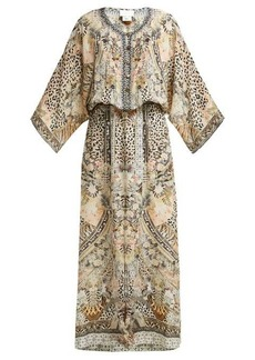 Camilla Leopard print silk sun dress