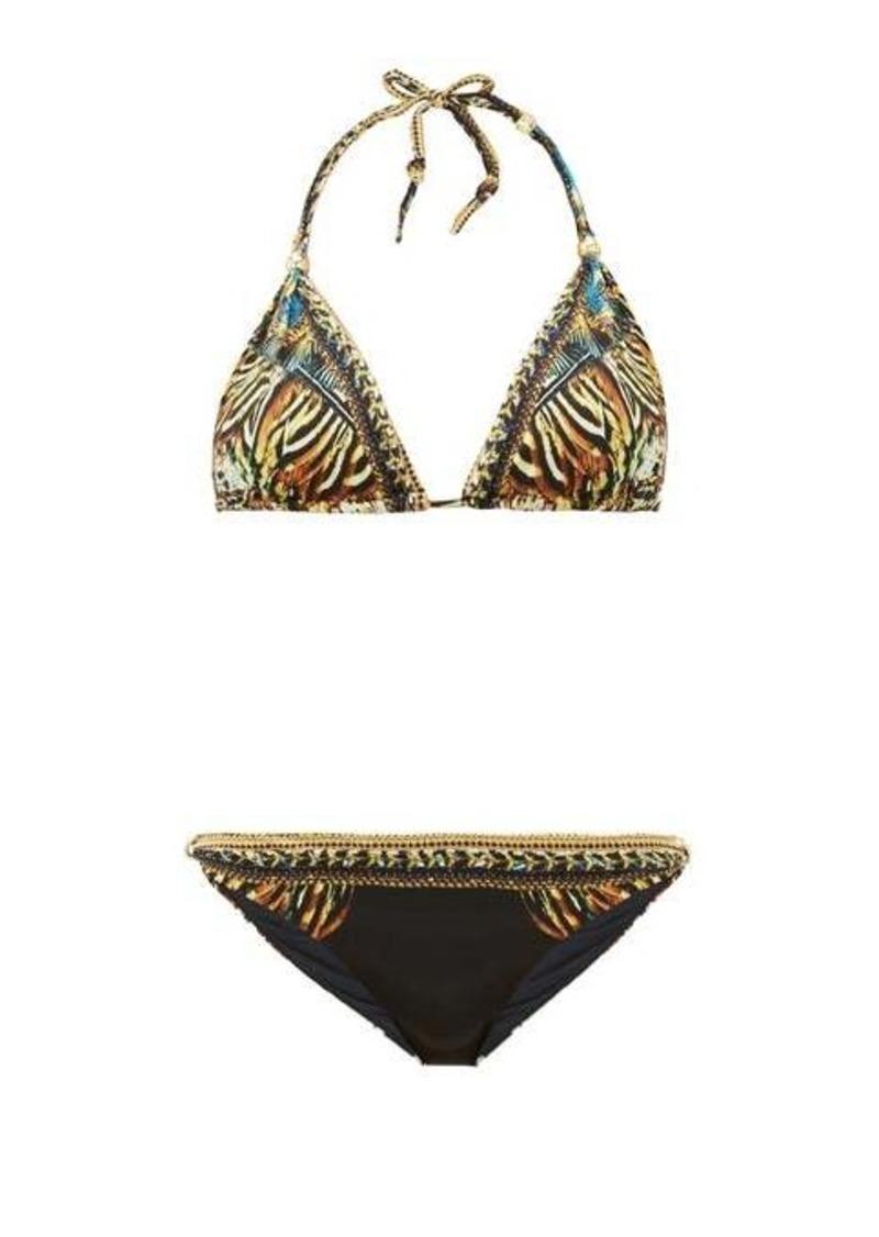 Camilla Lost Paradise underwater-print triangle bikini