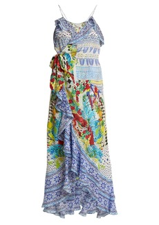 Camilla Masking Madness silk wrap dress