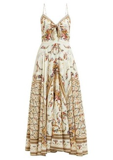 Camilla Olympe Ode-print silk dress