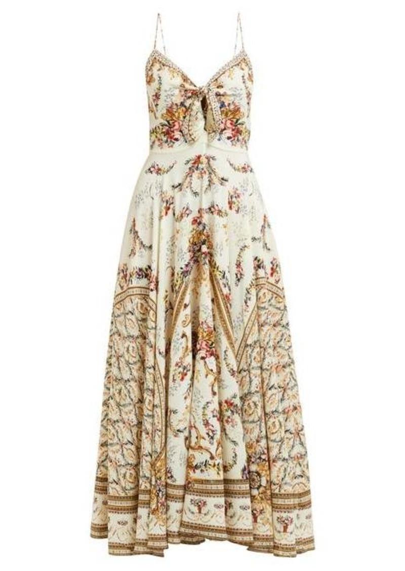 Camilla Olympe Ode-print silk dress