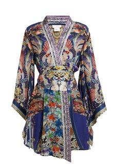 Camilla Playing Koi-print silk kimono wrap dress