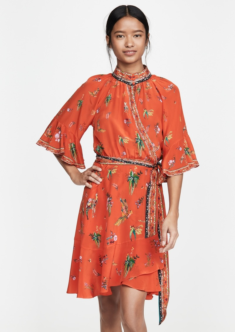 Camilla Raglan Sleeve Wrap Dress