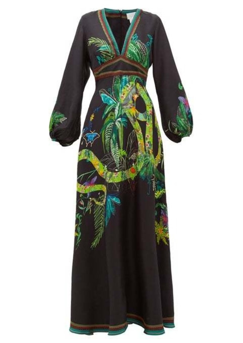 Camilla River Cruise silk-satin maxi dress