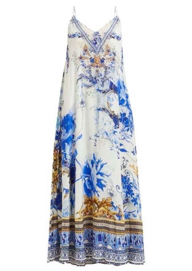 Camilla Saint Germaine-print silk maxi dress