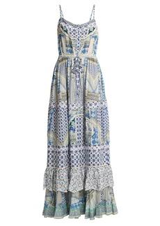 Camilla Salvador Summer tiered maxi dress