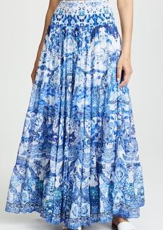 Camilla Sheer Tiered Maxi Skirt / Dress
