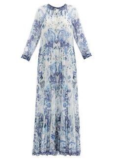 Camilla Talking About a Revolution-print silk maxi dress