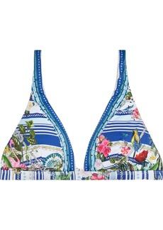 Camilla Woman Crystal-embellished Printed Triangle Bikini Top Multicolor