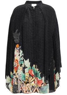 Camilla Woman Midnight Moonchild Crystal-embellished Printed Silk Crepe De Chine Tunic Black