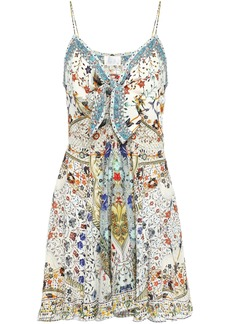 Camilla Woman The Butterfly Effect Embellished Silk Crepe De Chine Mini Dress Ivory
