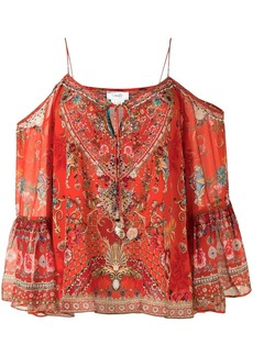 Camilla cold shoulder blouse