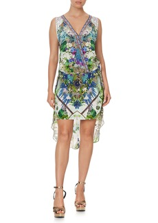 Camilla Crossover High-Low Print Dress