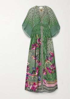 Camilla Crystal-embellished Printed Silk-crepe Maxi Dress