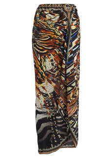 Camilla Embellished Animal-Printed Sarong