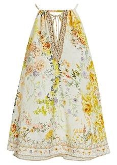 Camilla Embellished Floral Silk Camisole