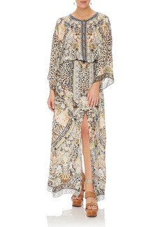 Camilla Embellished Silk Split-Front Maxi Dress