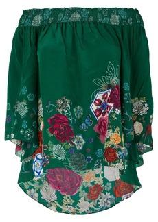 Camilla Emeralds Orbit off-the-shoulder blouse