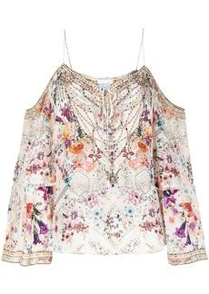 Camilla floral-print silk top