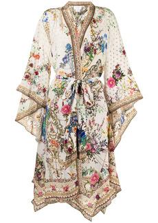 Camilla floral-print tied-waist jacket