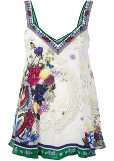 Camilla Gentle Moon Print v-neck top