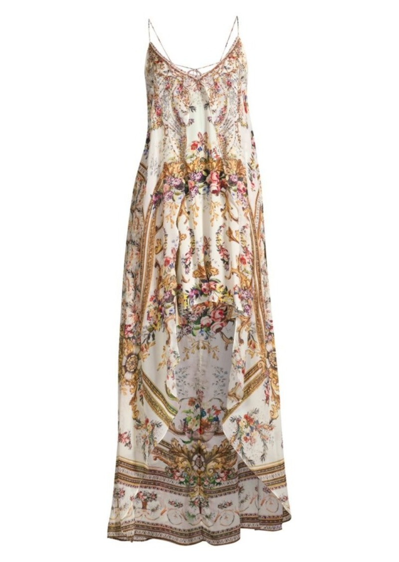 c86c3236192da8 Camilla La Fleur Libertine Olympe Ode Floral Silk High-Low Dress