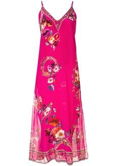 Camilla lace-up silk midi dress