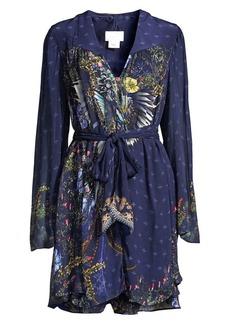 Camilla Mother Floral-Print Silk Tie-Waist Shirtdress