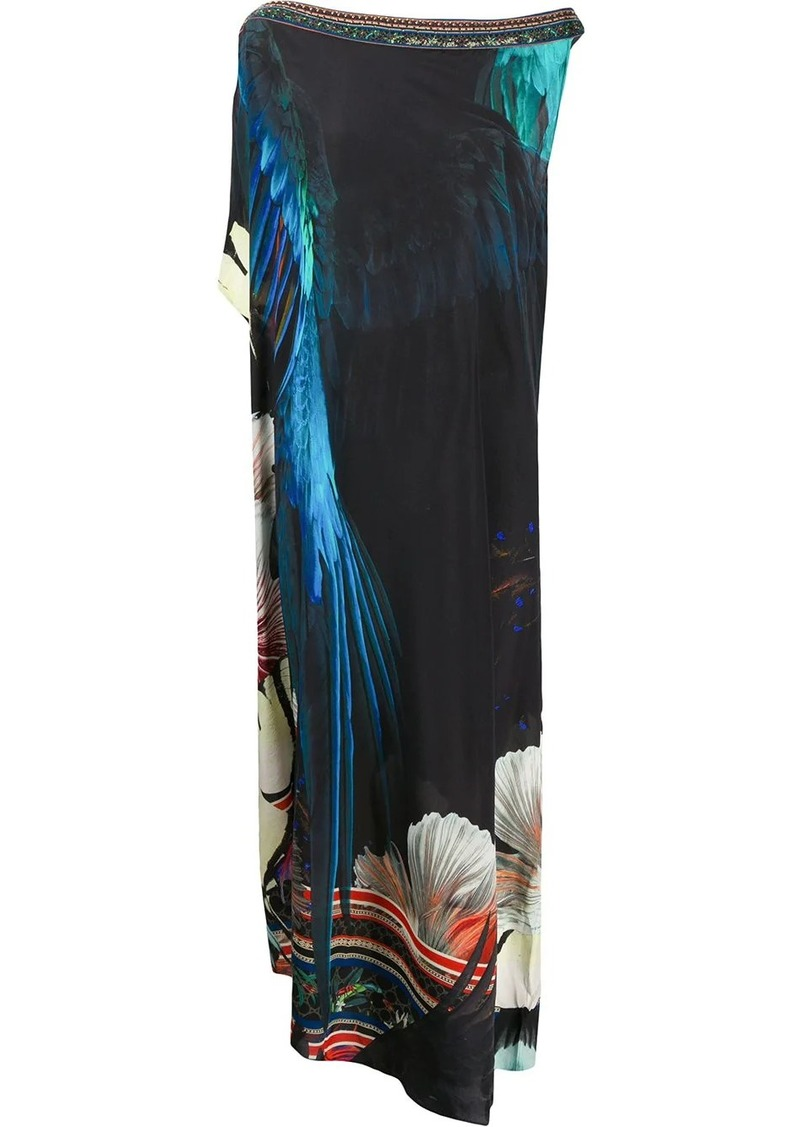 Camilla Night Flight-print silk dress