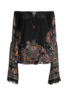 Camilla Off-The-Shoulder Bell-Sleeve Blouse