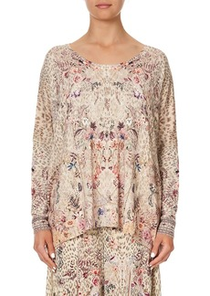 Camilla Oversized Longline Printed Shirt