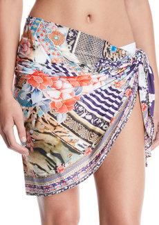Camilla Printed Short Sarong Coverup
