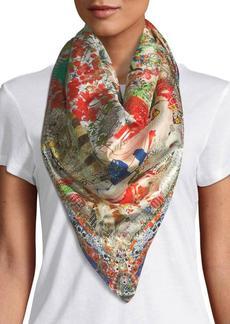 Camilla Printed Silk Square Scarf