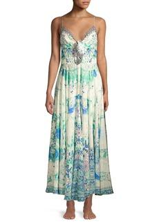 Camilla Silk Tie Front Floral Dress